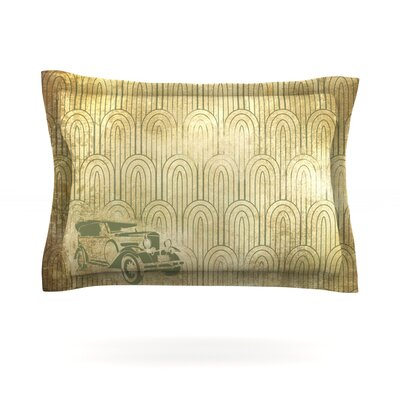 Deco Car Featherweight Pillow Sham Size: Queen, Fabric: Cotton