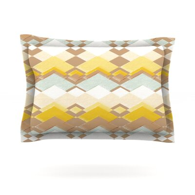 Retro Desert by Nika Martinez Featherweight Pillow Sham Size: King, Fabric: Cotton