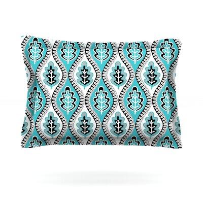 Oak Leaf by Jacqueline Milton Featherweight Pillow Sham Size: King, Color: Blue