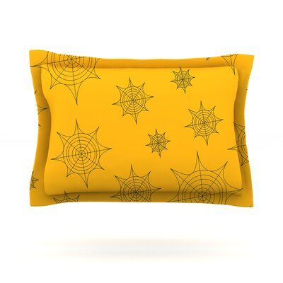 Mini Webs Woven Pillow Sham Size: Queen, Color: Orange