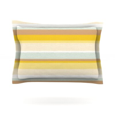 Desert Stripes by Nika Martinez Featherweight Pillow Sham Size: King, Fabric: Cotton