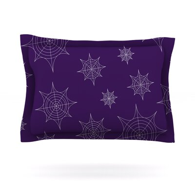 Mini Webs Woven Pillow Sham Size: King, Color: Purple