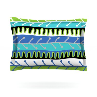 Salsa by Jacqueline Milton Featherweight Pillow Sham Size: Queen, Color: Blue/Green, Fabric: Cotton