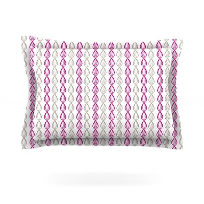 Plum Pod by Julie Hamilton Featherweight Pillow Sham Size: Queen, Fabric: Cotton