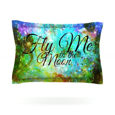 Fly Me To The Moon by Ebi Emporium Featherweight Pillow Sham Size: King, Fabric: Cotton