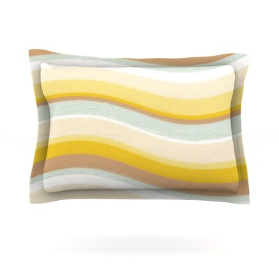 Desert Waves by Nika Martinez Featherweight Pillow Sham Size: King, Fabric: Cotton