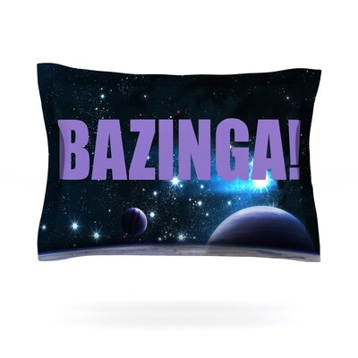 Bazinga Purple Featherweight Pillow Sham Size: Queen