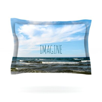 Imagine by Iris Lehnhardt Featherweight Pillow Sham Size: Queen, Fabric: Cotton