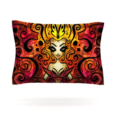 She Devil Full by Mandie Manzano Featherweight Pillow Sham Size: King, Fabric: Cotton