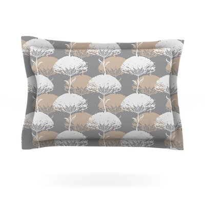 Charming Tree by Julia Grifol Featherweight Pillow Sham Size: Queen, Fabric: Cotton