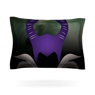 Dark Fairy Featherweight Pillow Sham Size: Queen, Fabric: Cotton