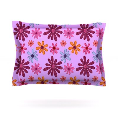 Woodland Floral by Jane Smith Featherweight Pillow Sham Size: Queen, Fabric: Cotton