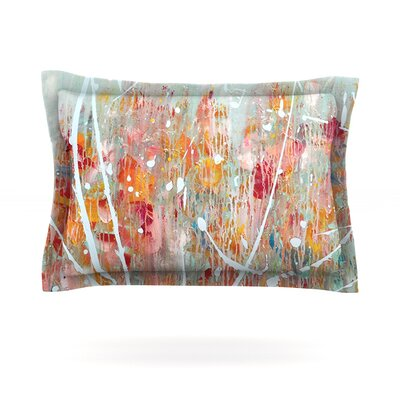 Joy by Iris Lehnhardt Featherweight Pillow Sham Size: King, Fabric: Cotton