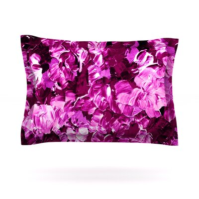 Floral Fantasy III by Ebi Emporium Featherweight Pillow Sham Size: Queen, Fabric: Cotton