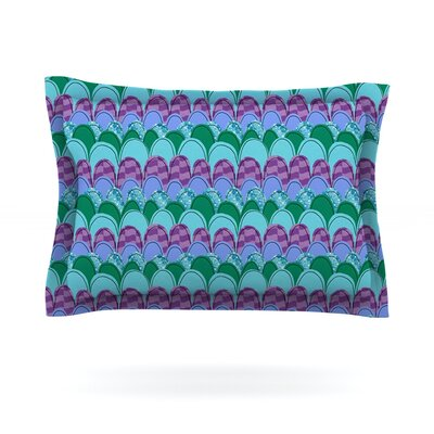 Woodland Waves by Jane Smith Featherweight Pillow Sham Size: Queen, Fabric: Cotton