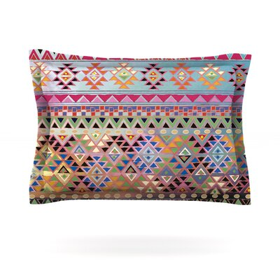 Tribal Native by Nika Martinez Featherweight Pillow Sham Size: King, Color: Red, Fabric: Cotton