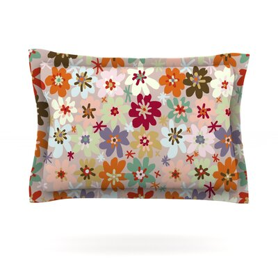Sophie by Laura Escalante Featherweight Pillow Sham Size: Queen, Fabric: Cotton