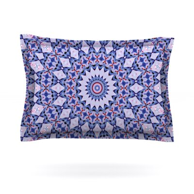 Kaleidoscope Blue by Iris Lehnhardt Featherweight Pillow Sham Size: Queen, Fabric: Cotton