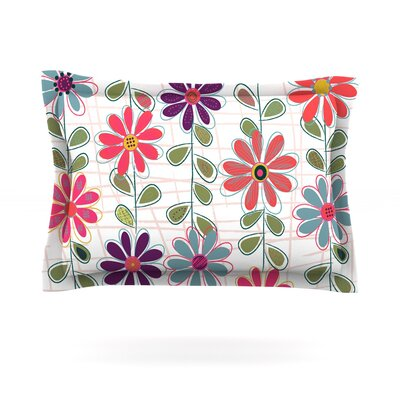 Fall Flowers by Jolene Heckman Featherweight Pillow Sham Size: King, Fabric: Cotton