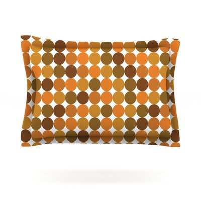 Noblefur Orange Harvest Featherweight Pillow Sham Size: King