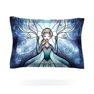 The Snow Queen by Mandie Manzano Featherweight Pillow Sham Size: King, Fabric: Cotton