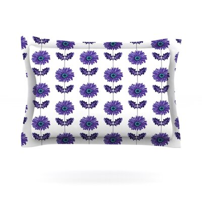 Gerbera by Laura Escalante Woven Pillow Sham Color: Purple, Size: King