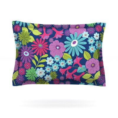 Lula by Jacqueline Milton Featherweight Pillow Sham Size: Queen, Color: Aqua/Purple