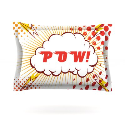 POW! Featherweight Pillow Sham Size: Queen, Fabric: Cotton