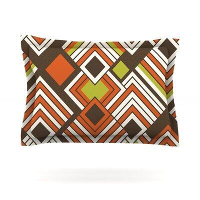 Luca by Jacqueline Milton Woven Pillow Sham Size: Queen, Color: Brown/Orange