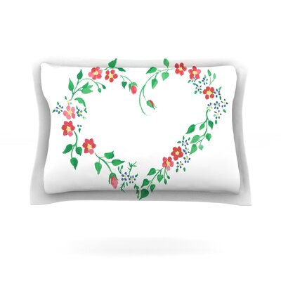 Heart by Louise Featherweight Pillow Sham Size: Queen, Fabric: Cotton