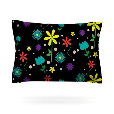 Flower I by Louise Featherweight Pillow Sham Size: Queen, Fabric: Cotton