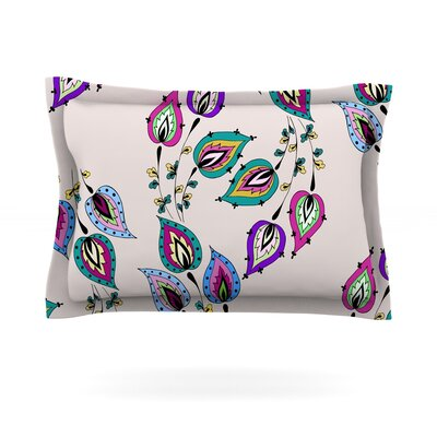 Leave by Louise Featherweight Pillow Sham Size: King, Fabric: Cotton