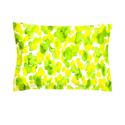 Giraffe Spots by Ebi Emporium Woven Pillow Sham Size: King, Color: Green