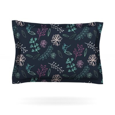 Flower III by Louise Featherweight Pillow Sham Size: Queen, Fabric: Cotton