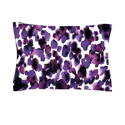 Giraffe Spots by Ebi Emporium Woven Pillow Sham Color: Lavender, Size: Queen