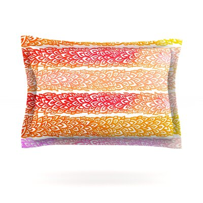Leafs from Paradise by Pom Graphic Design Featherweight Pillow Sham Size: Queen, Fabric: Cotton
