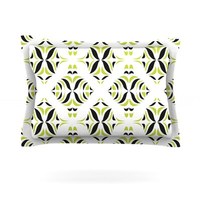 Lime Green Rainforest by Miranda Mol Featherweight Pillow Sham Size: King, Fabric: Cotton