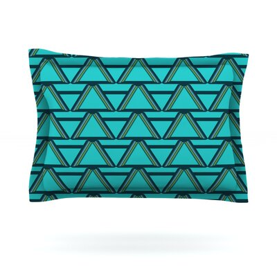 Deco Angles by Nina May Featherweight Pillow Sham Size: King, Fabric: Cotton