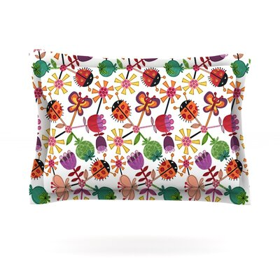 Garden Floral by Jane Smith Featherweight Pillow Sham Size: King, Fabric: Cotton