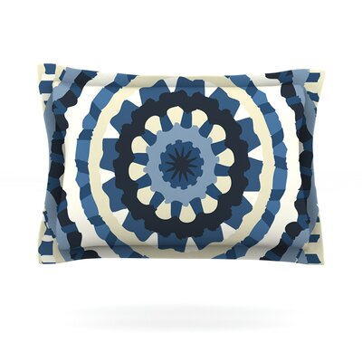 Ribbon Mandala by Laura Nicholson Featherweight Pillow Sham Size: Queen, Fabric: Cotton