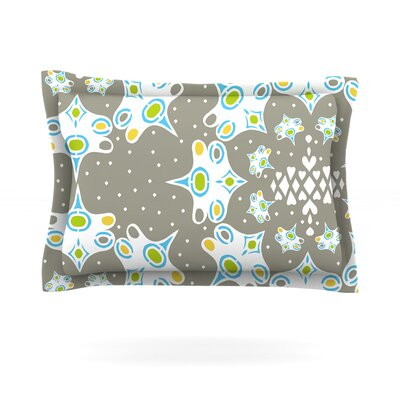 Ornamental Splash Silver by Miranda Mol Featherweight Pillow Sham Size: Queen, Fabric: Cotton