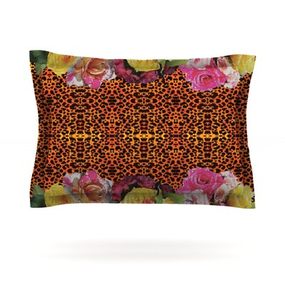 New Rose Eleo by Nina May Featherweight Pillow Sham Size: Queen, Fabric: Cotton