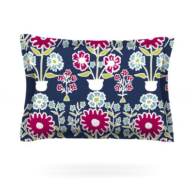 Turkish Vase by Laura Nicholson Featherweight Pillow Sham Size: Queen, Fabric: Cotton