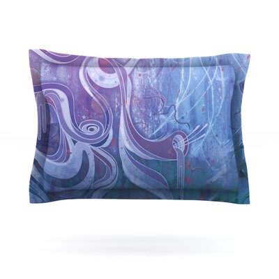 Electric Dreams II by Mat Miller Featherweight Pillow Sham Size: Queen, Fabric: Cotton
