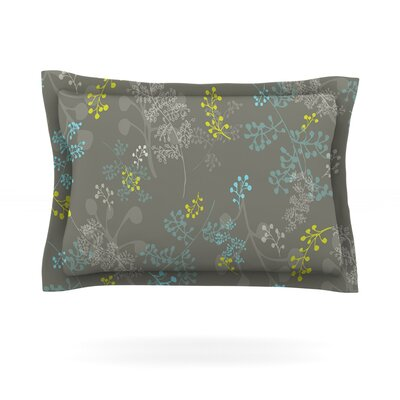 Ferns Vines Green by Laurie Baars Featherweight Pillow Sham Size: Queen, Color: Green/Brown, Fabric: Cotton