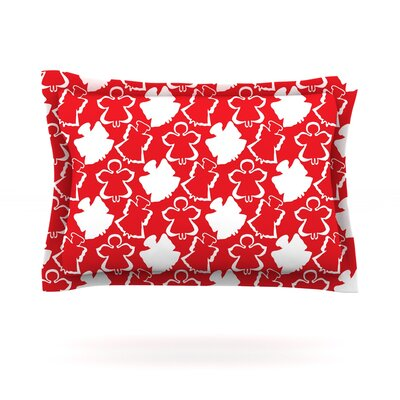 Dancing Angels by Miranda Mol Featherweight Pillow Sham Size: Queen, Fabric: Cotton