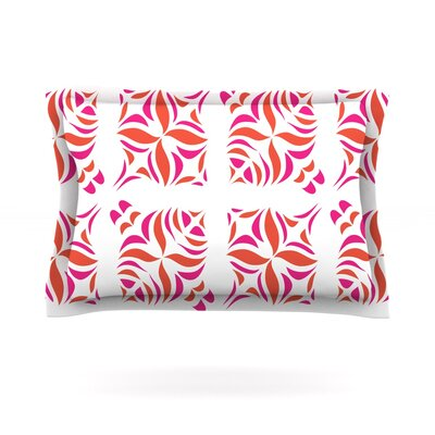Orange Oasis by Miranda Mol Featherweight Pillow Sham Size: Queen, Fabric: Cotton