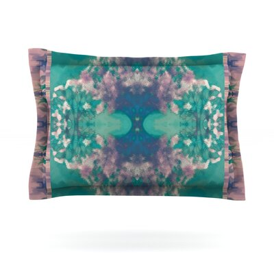 Ashby Blossom Teal by Nina May Featherweight Pillow Sham Size: King, Fabric: Cotton