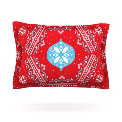Snow Joy Red by Miranda Mol Featherweight Pillow Sham Size: King