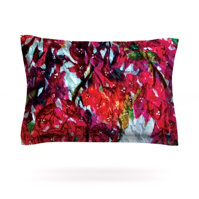 Bougainvillea by Mary Bateman Featherweight Pillow Sham Size: King, Fabric: Cotton